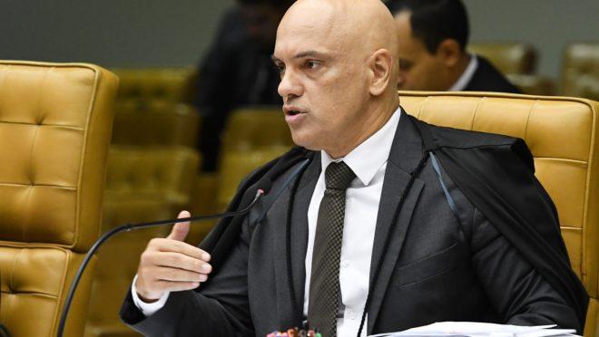 Alexandre de Moraes é relator do inquérito que apura suposta interferência de Bolsonaro na Polícia Federal.