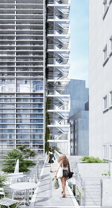 No Copan, inserção dos módulos acrescentaria 2,5 mil m² de área ao edifício.