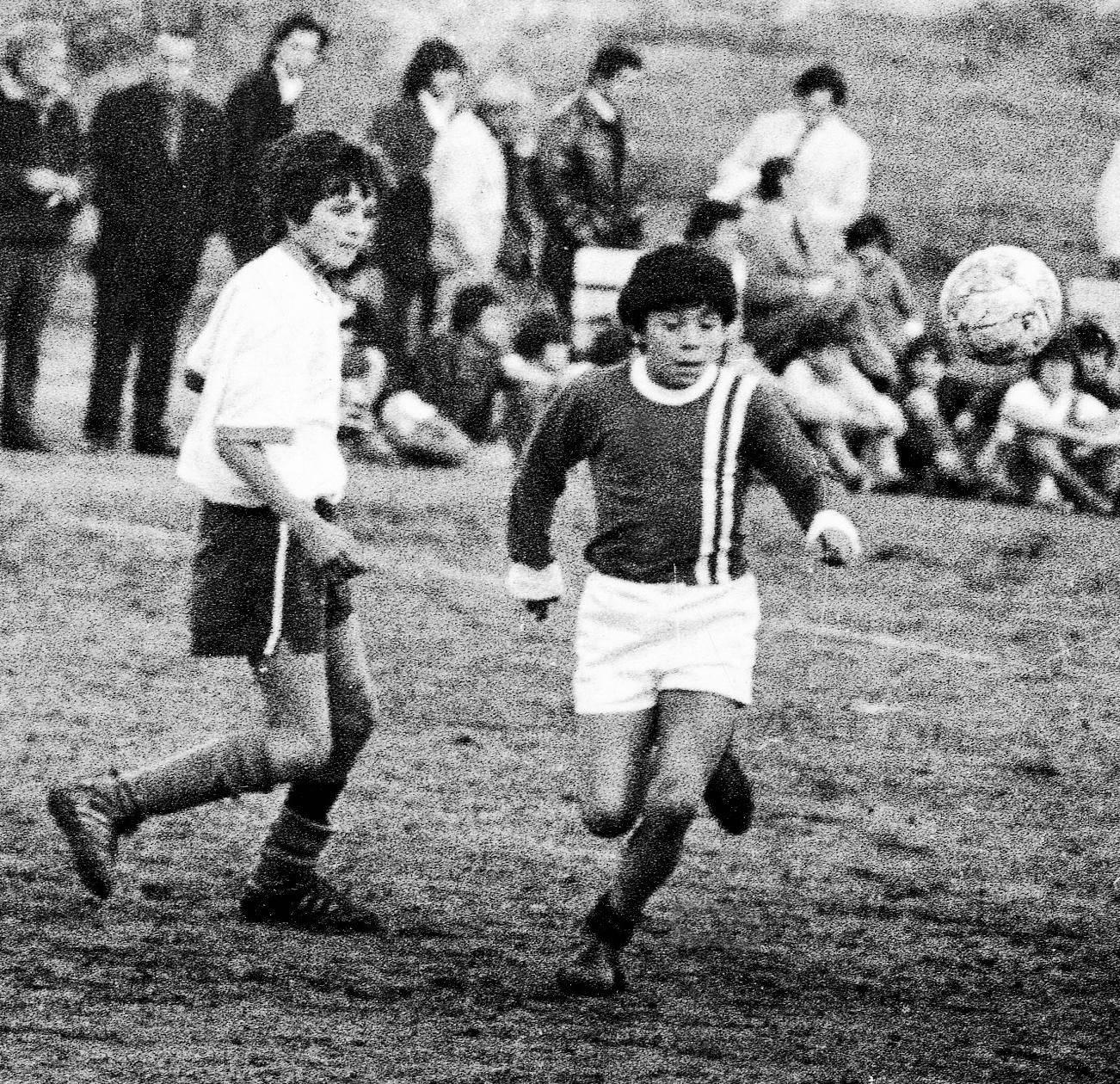 Maradona no início de carreira