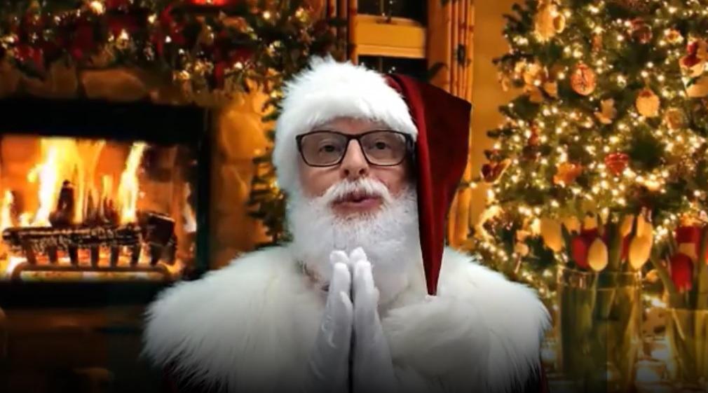 Jorge Luis Purgly está na TamoVip como personagem Papai Noel. Foto: Reprodução