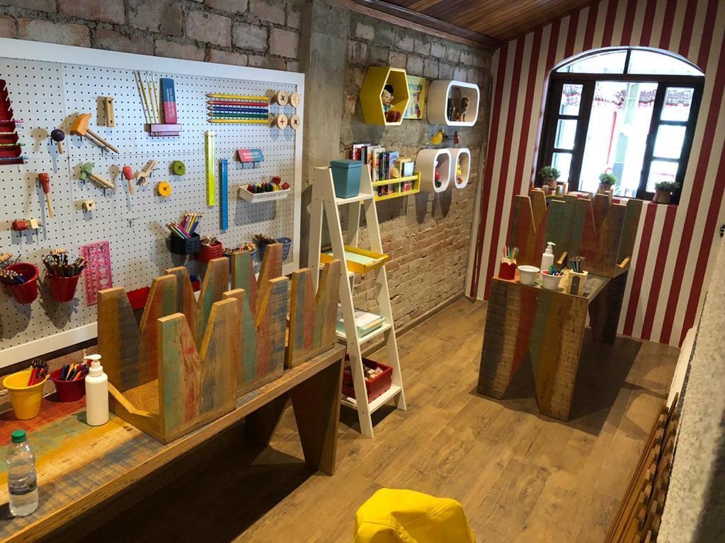 O espaço especial do Italy Caffé para as crianças.