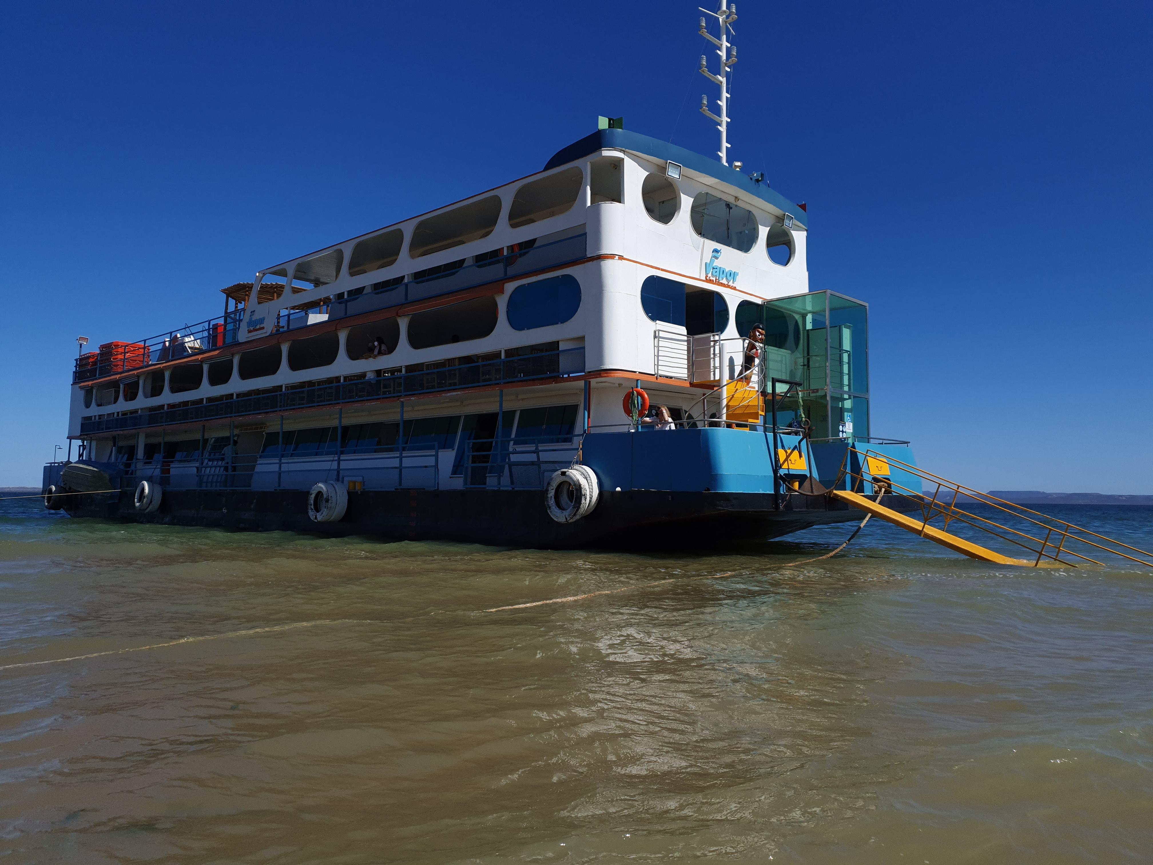 Rota Vapor do Vinho, um pacote turístico que contempla um passeio de barco à vapor. Foto: Patrícia Ecave.