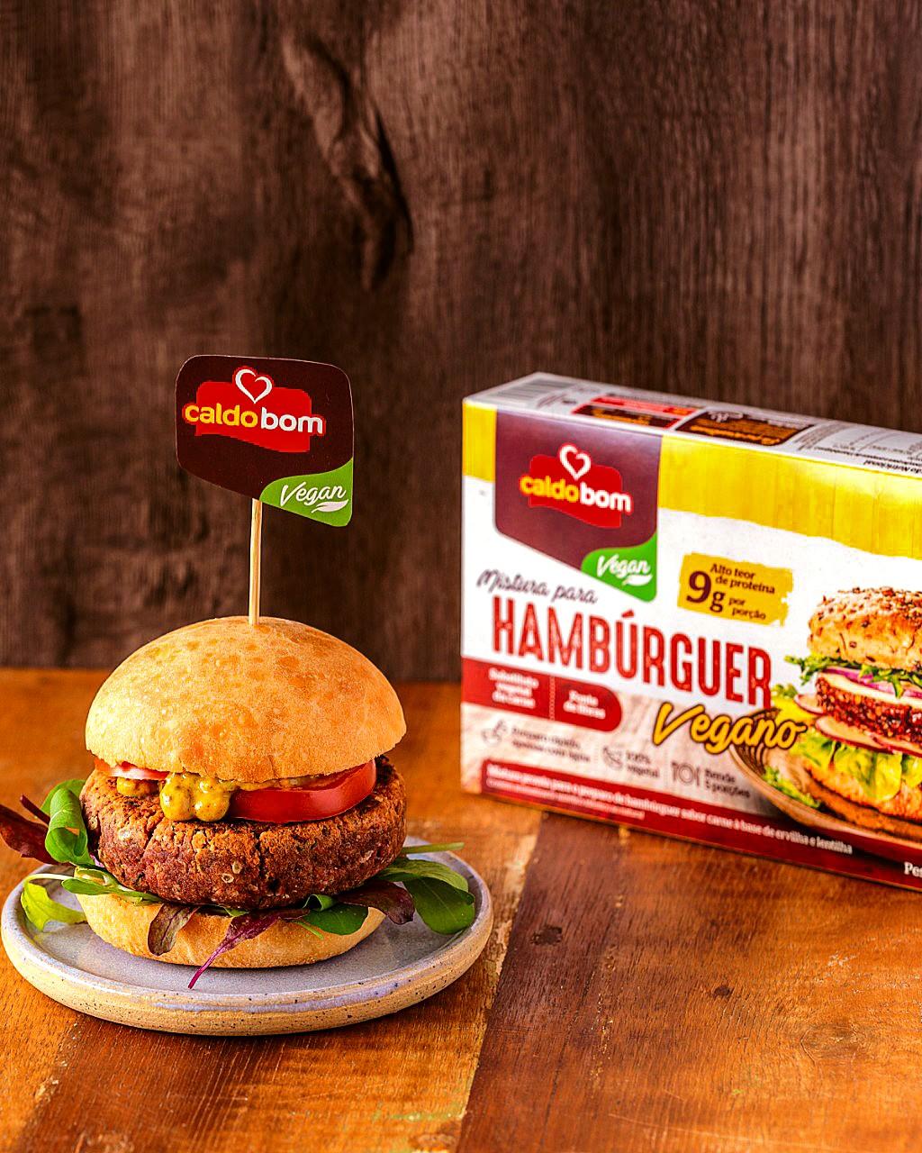 Hambúrguer Vegano Caldo Bom