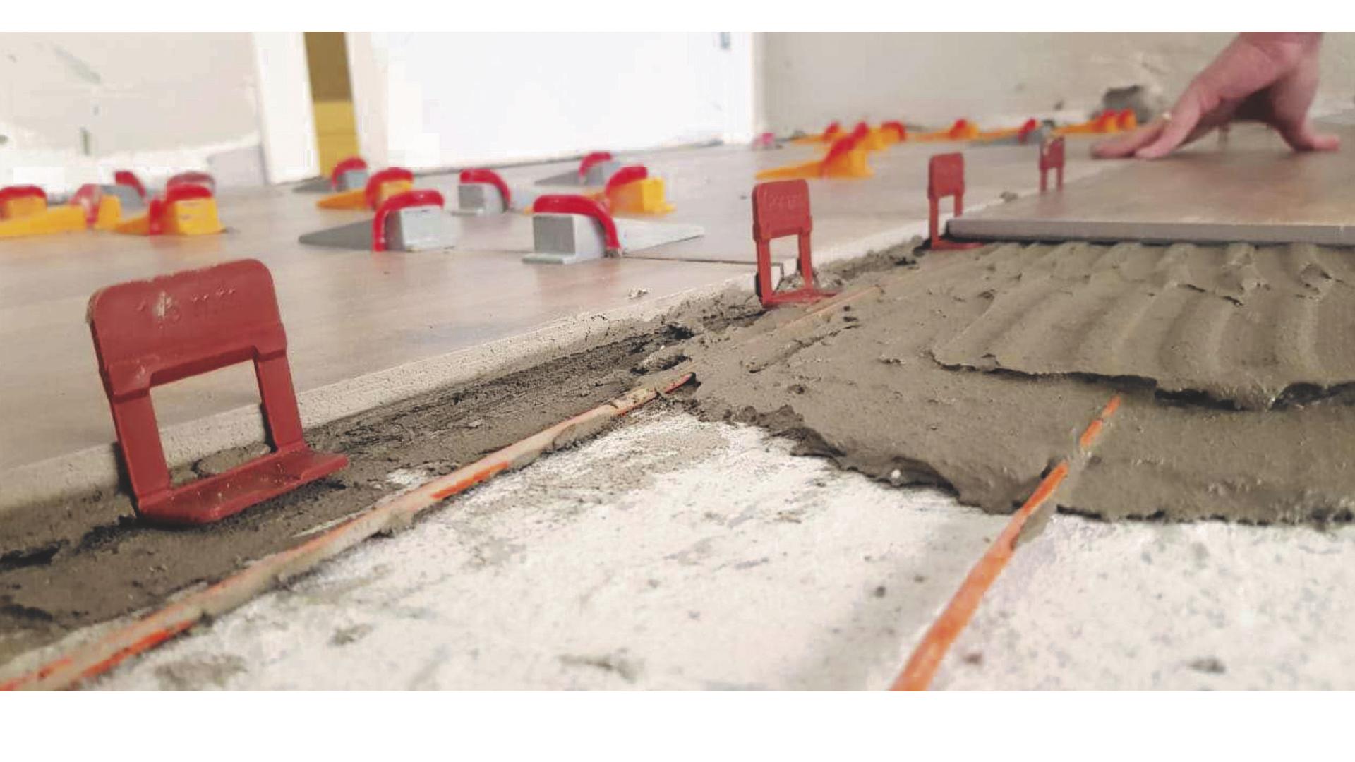 Instalação de piso aquecido