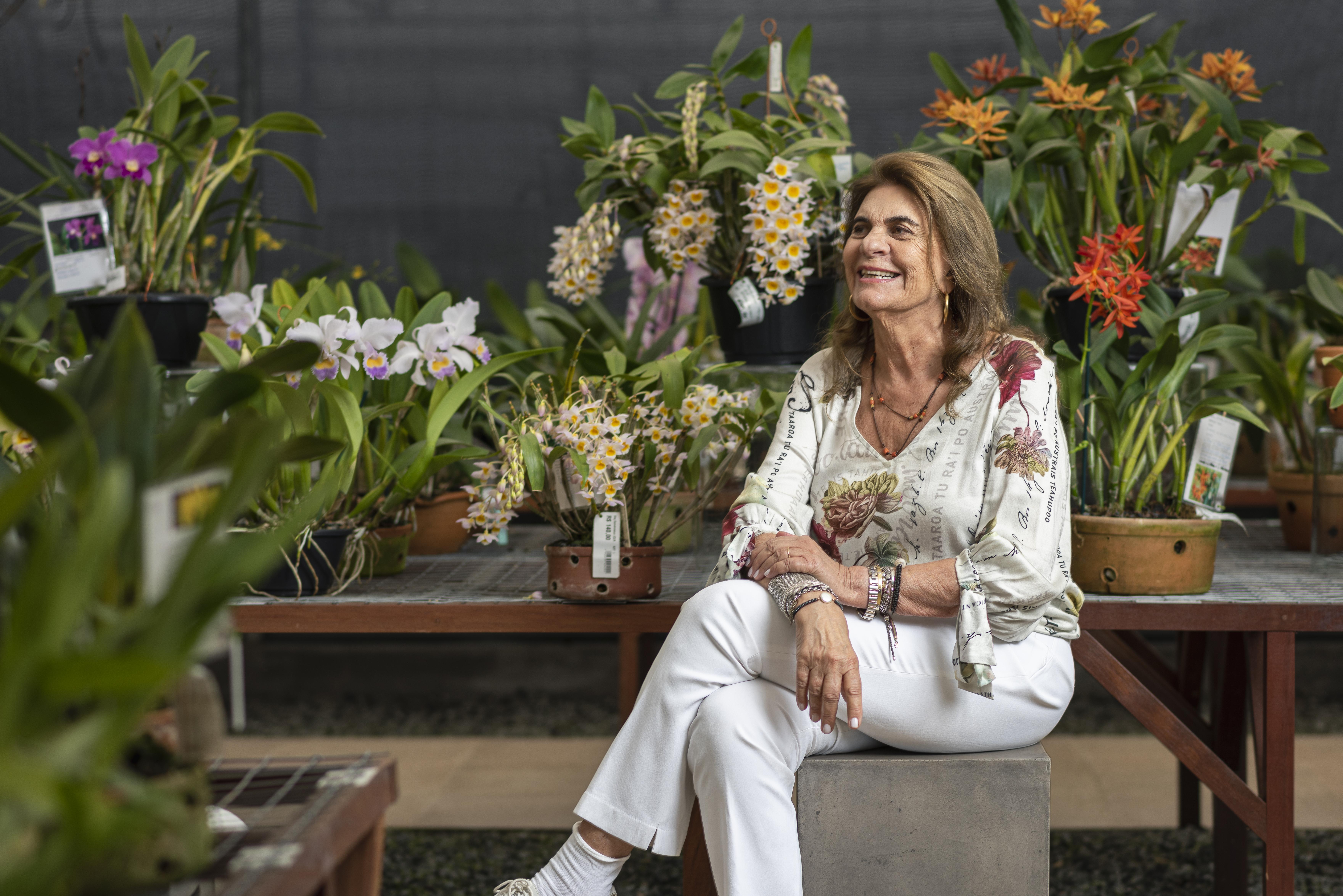 Rosita sempre foi apaixonada por orquídeas.