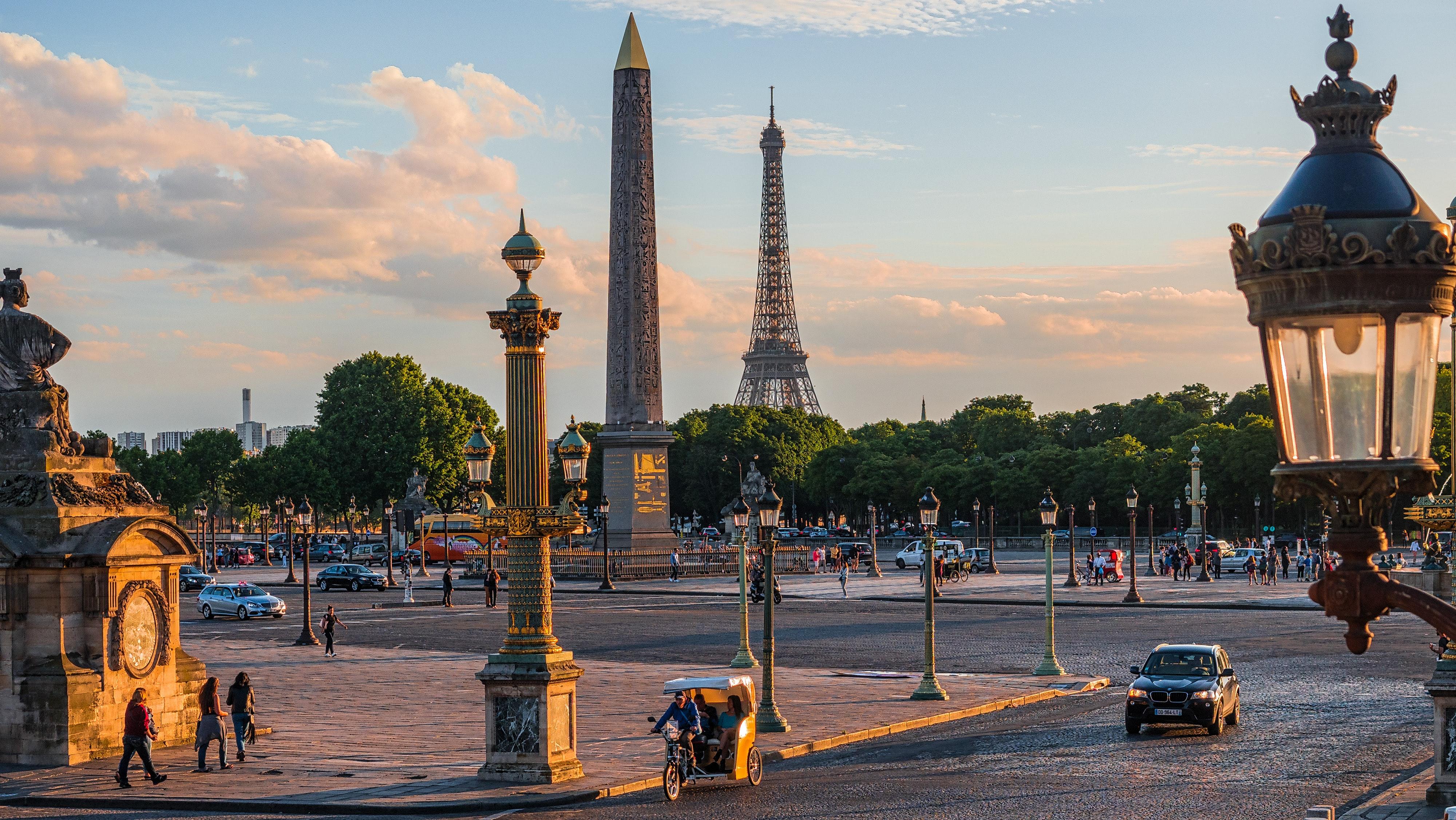 Vista da Praça da Concórdia, em Paris: reforma começará pela região. Foto: Lei Coreographes/Unsplash.
