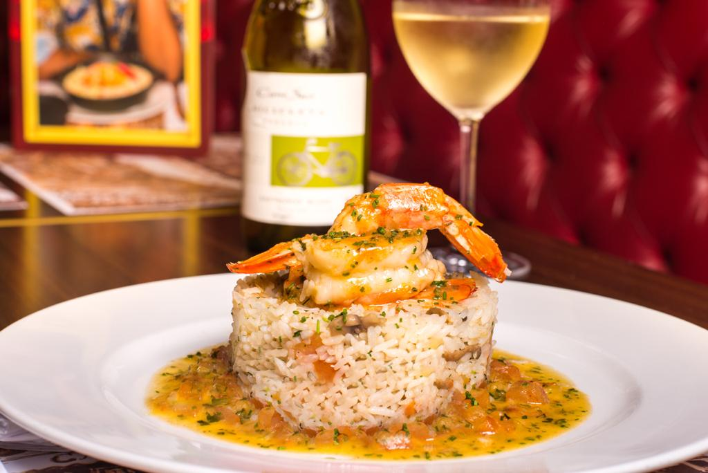 Crevettes à Provençal à Bruno Gagliasso foi o primeiro prato batizado com nome de artista. Foto: Divulgação/Paris 6