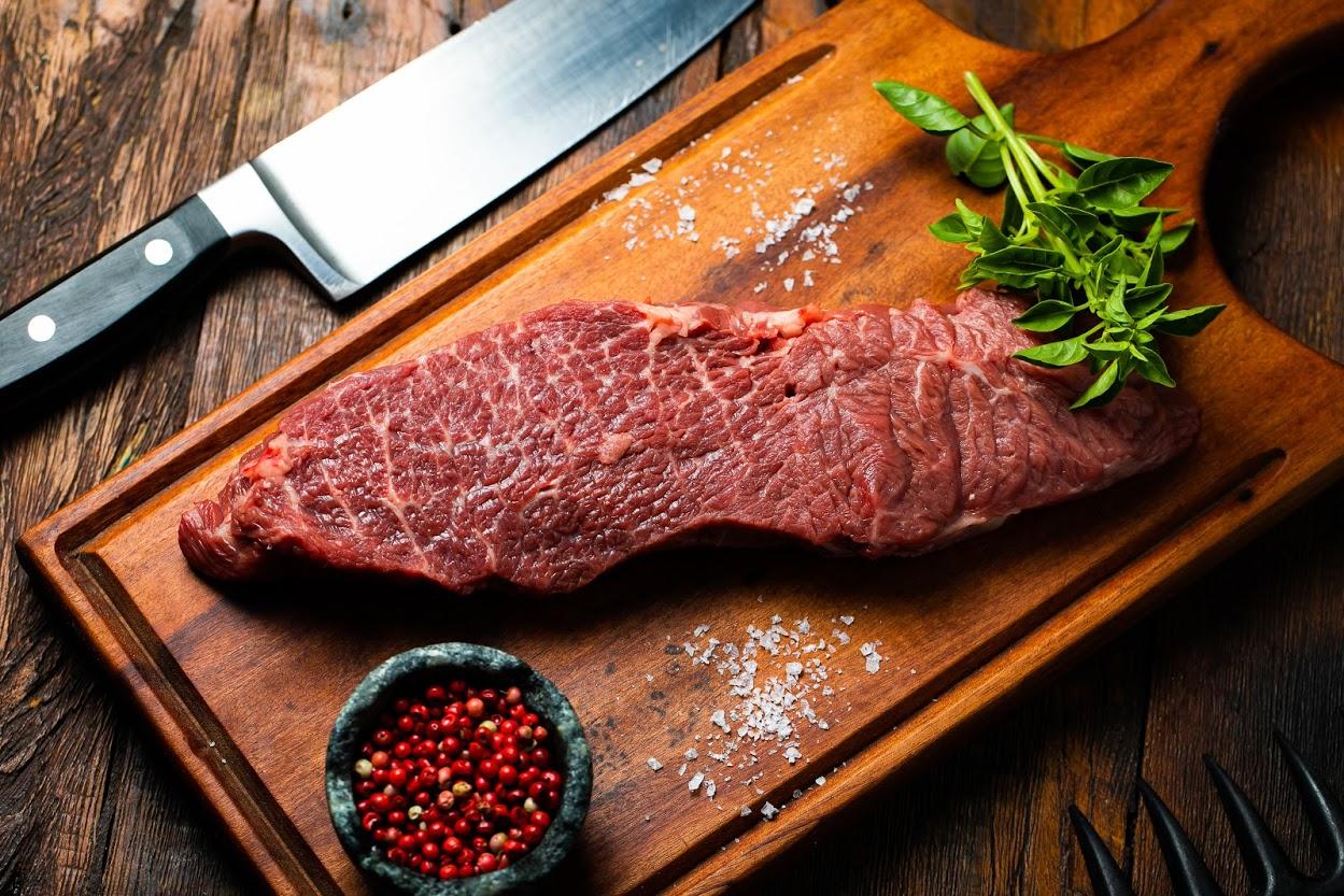 Top sirloin é corte de carne com pouca gordura.