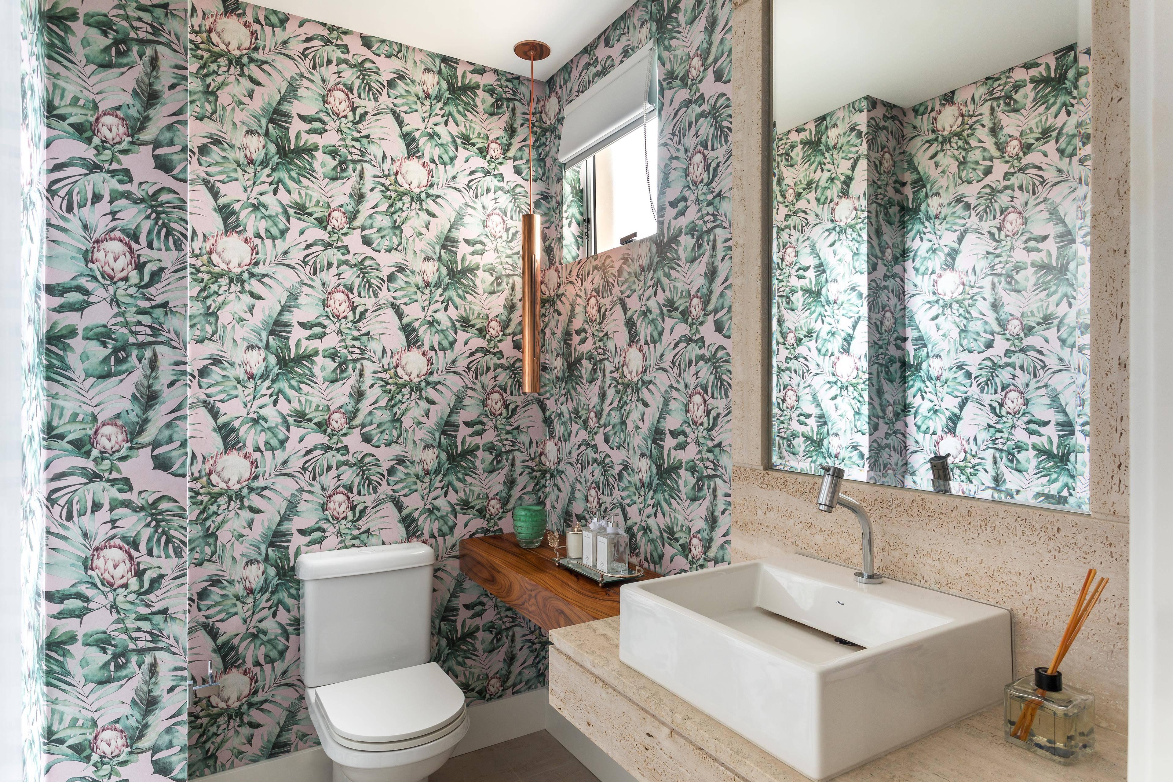 Lavabo do Apartamento BP, decorado pela arquiteta Gabriela Casagrande.