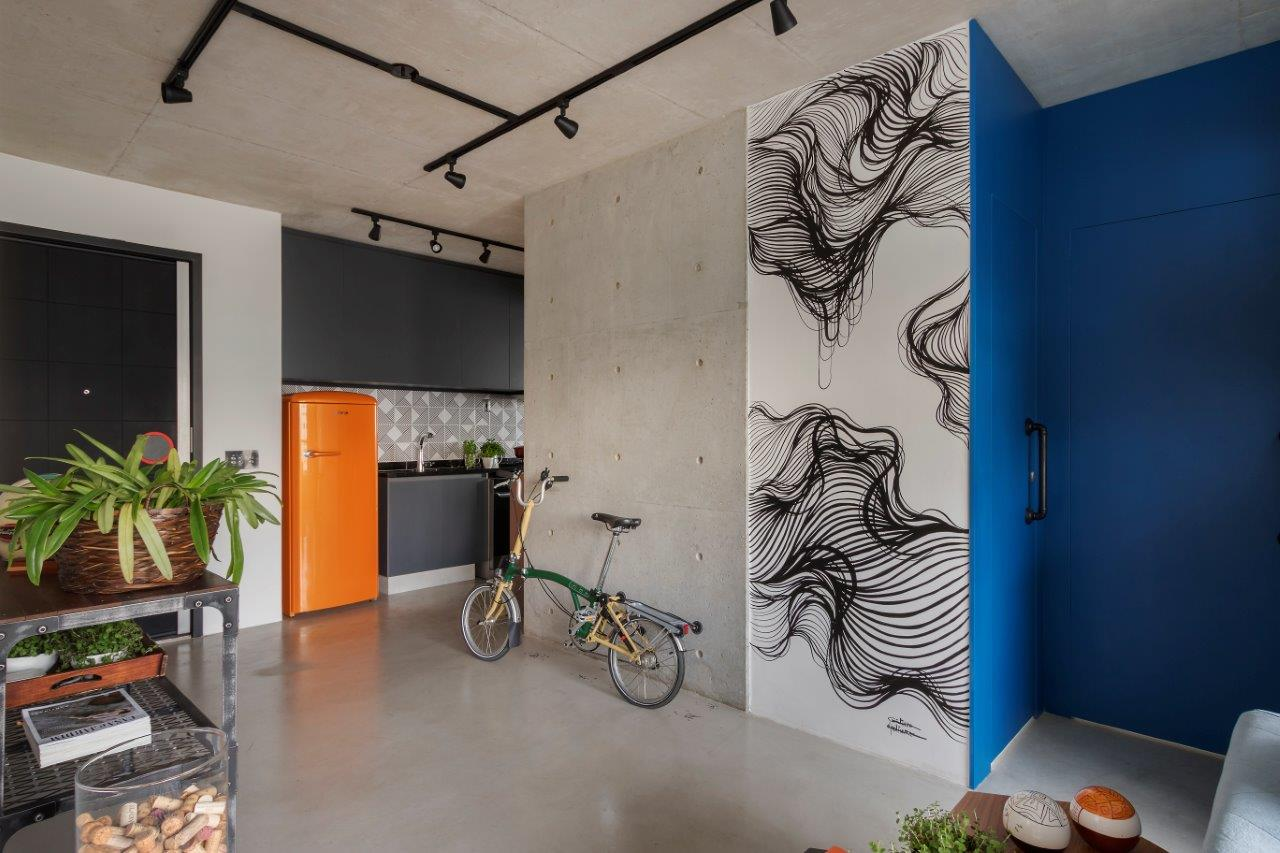 <em>Wall art</em> em preto e branco de Giulianno Martinuzzo. Rafael Renzo/Divulgação.