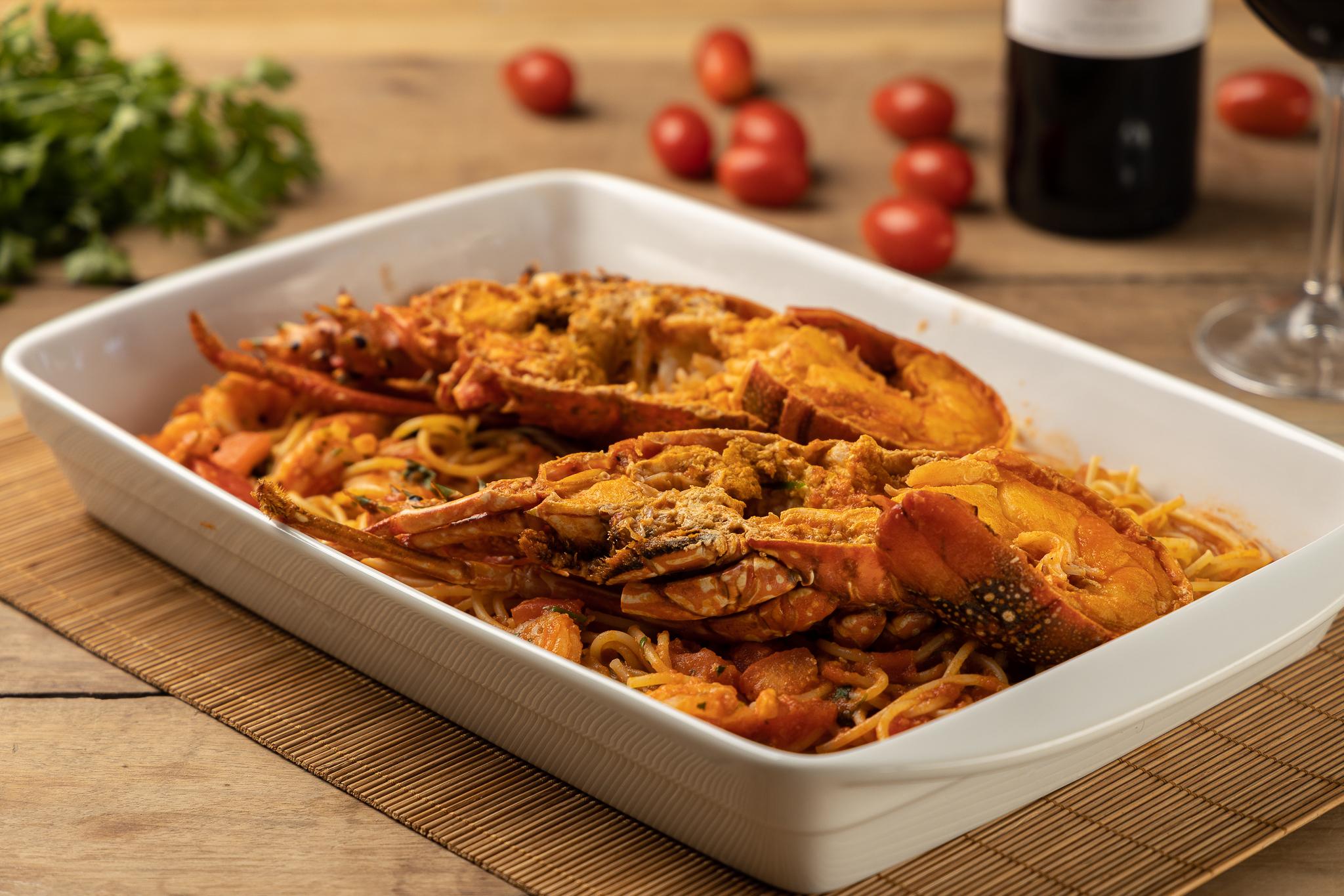 Spaghetti Pedra Lagosta Verão. Foto: Fernando Zequinão/Divulgação