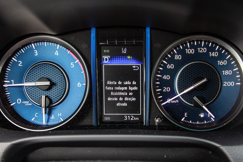 Quadro de instrumentos do novo Toyota SW4