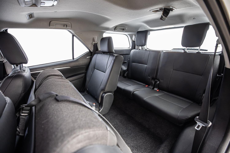 Bancos da terceira fileira de assentos do Toyota SW4