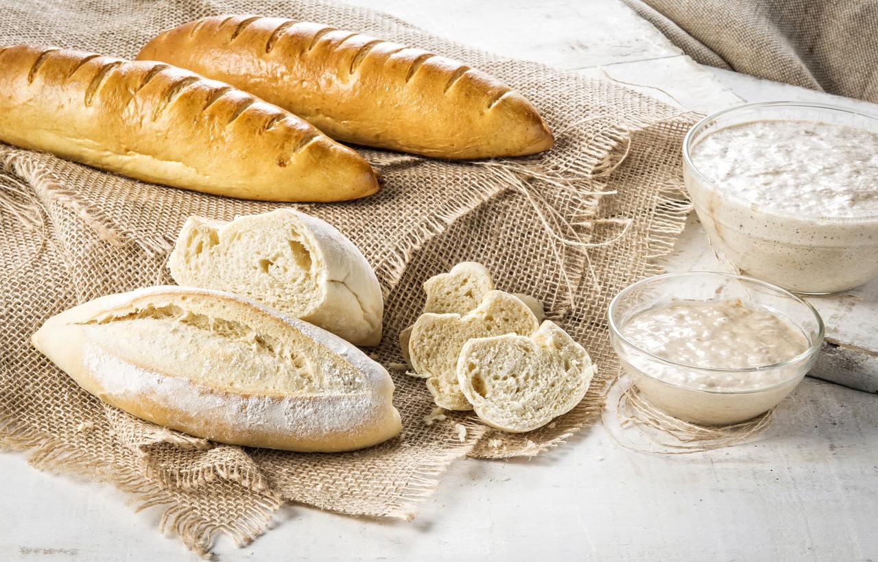 Na foto pães fermentação natural do chef Fabiano Marcolini.