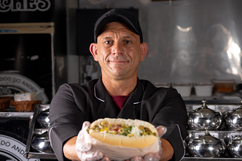 Anderson se reinventou por meio da gastronomia. Foto: Rodrigo Pierrot