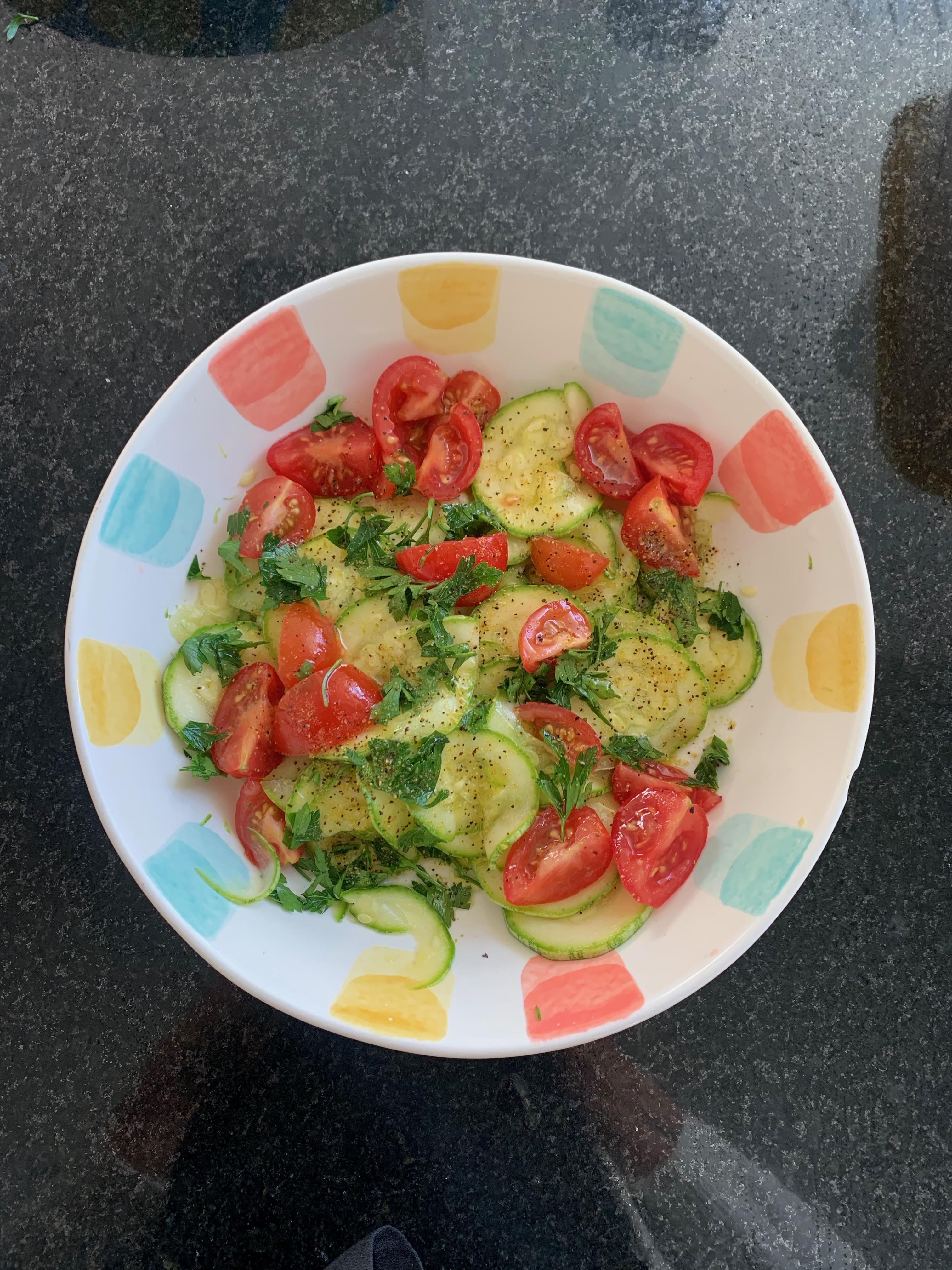 Receita salada de abobrinha