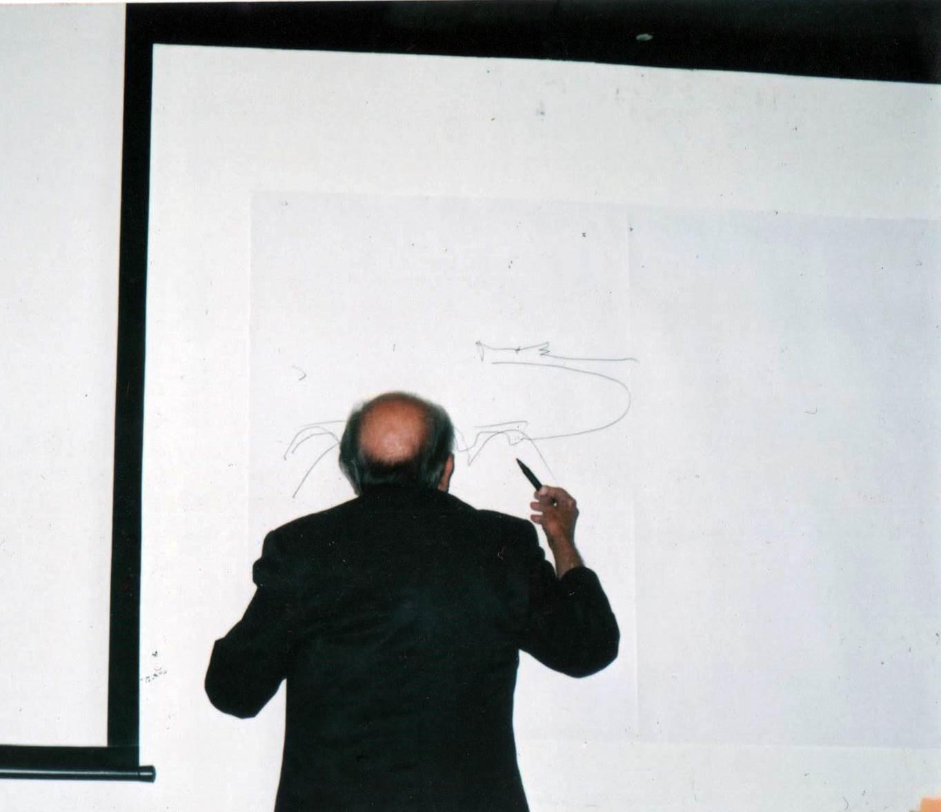 Niemeyer em Curitiba, 2002.
