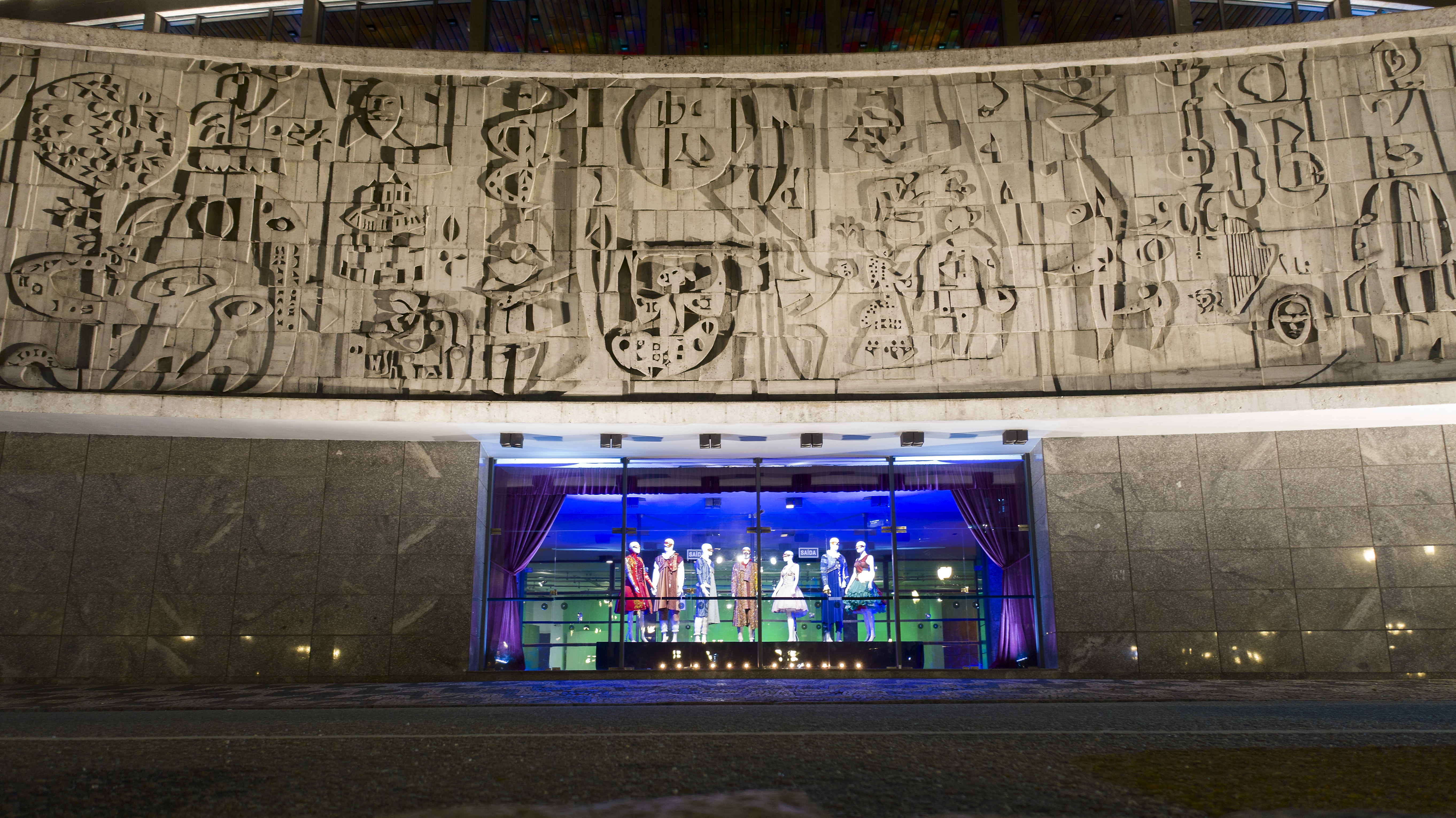 O Teatro Guaíra em 2020.