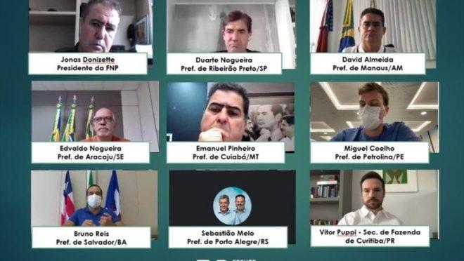 Reunião virtual da Comissão de Vacinas da Frente dos Prefeitos