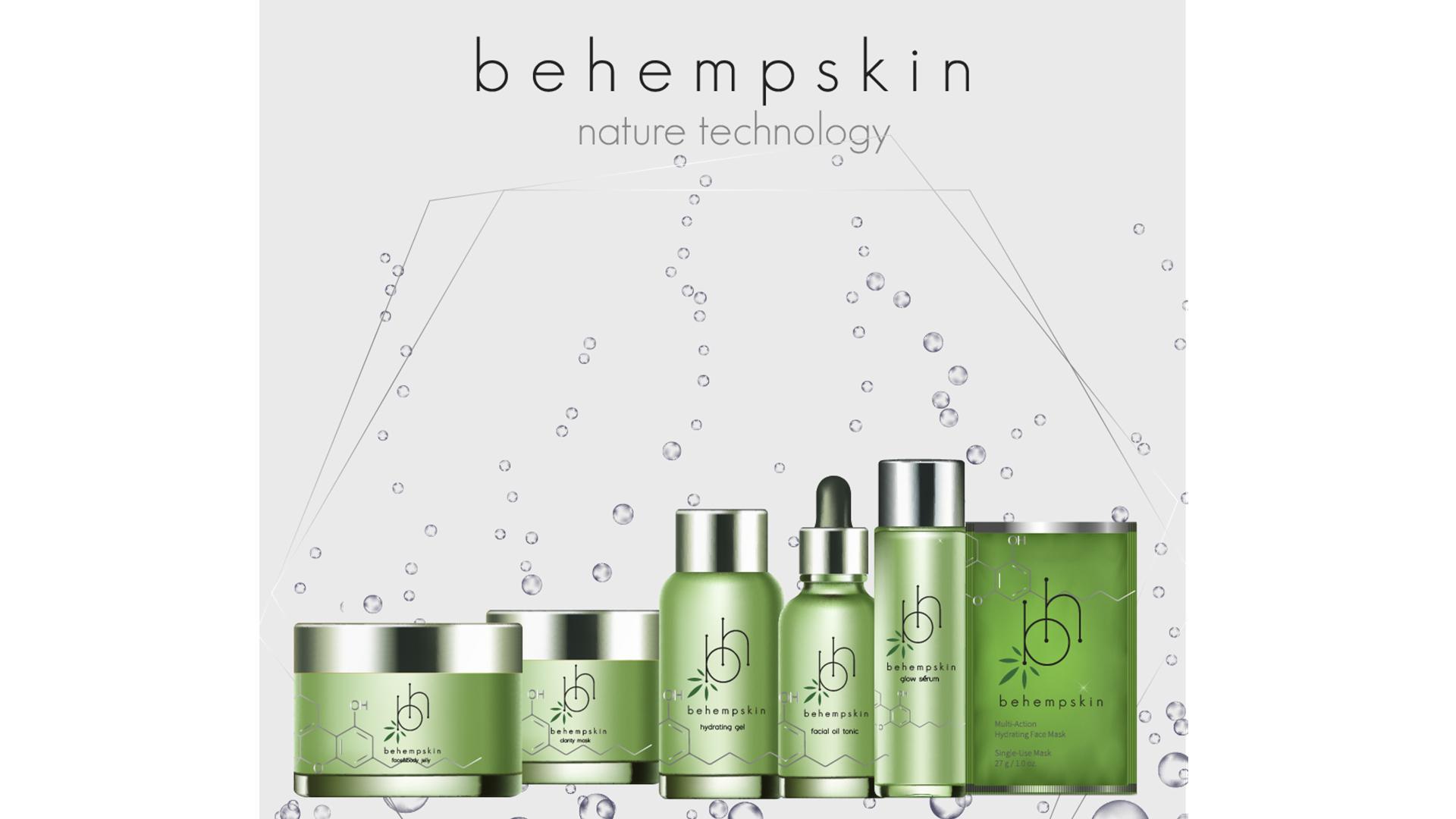Linha de cosméticos BeHemp Skin é produzida a partir de derivados da cannabis, item com grande potencial para retardar o envelhecimento.