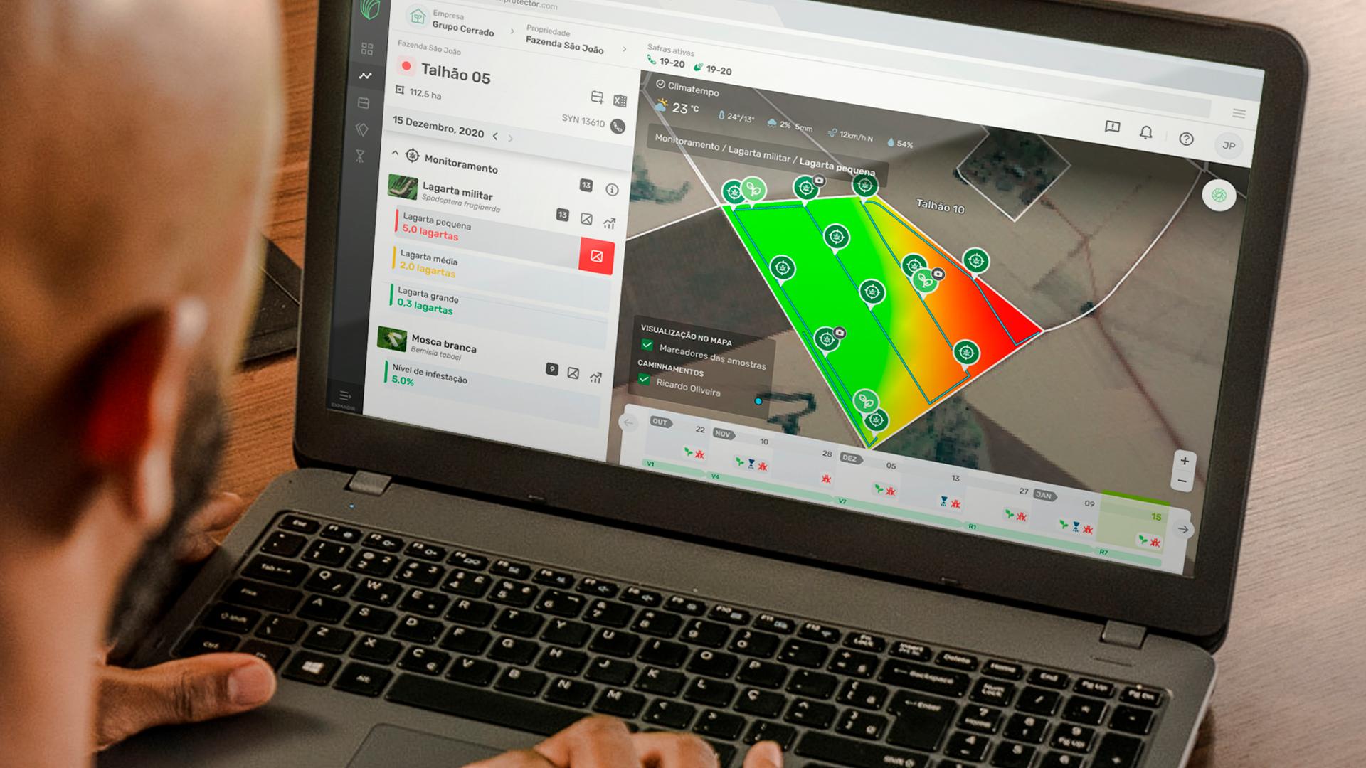 Mapas de calor permitem a aplicação localizada de defensivos agrícolas