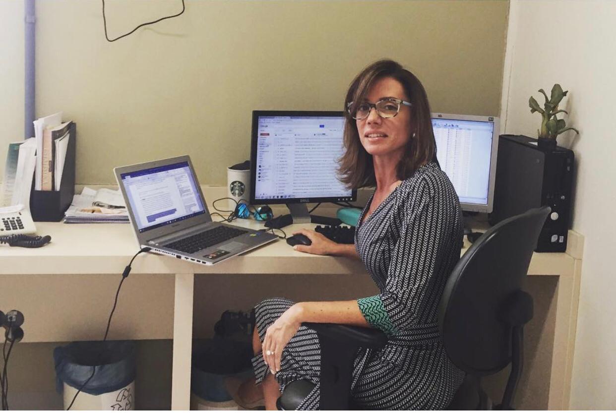 Cristina Baena, fisioterapeuta que lidera pesquisas sobre o coronavírus em Curitiba.