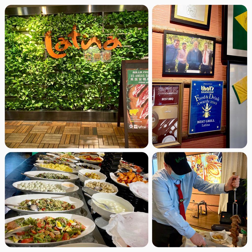 Na entrada a certeza, chegamos ao local certo, chegamos a churrascaria brasileira! Latina.
