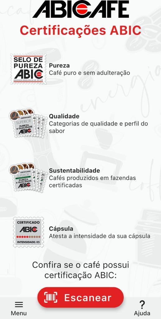 App da ABIC ajuda o consumidor a escolher o café que vai levar para casa. Foto: Reprodução