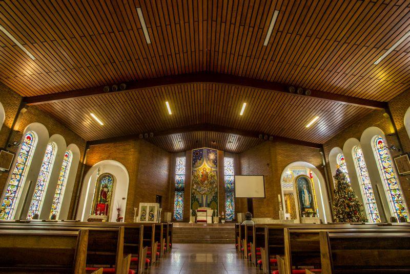 Santuário Cristo Rei e São Judas Tadeu utiliza ar-condicionado natural para circular e purificar o ar.