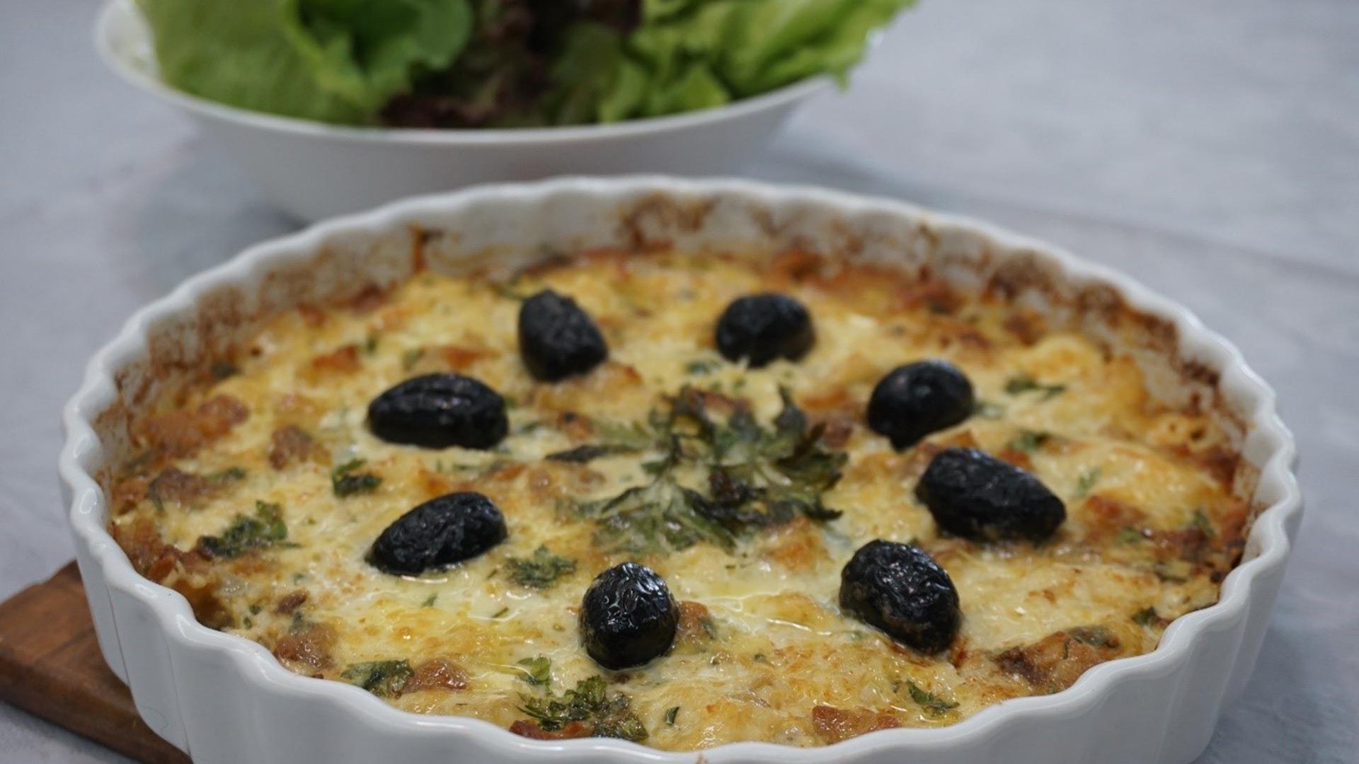 Bacalhau às natas é um dos pratos disponíveis no cardápio da Semana Santa da MiAguiar Gastronomia.