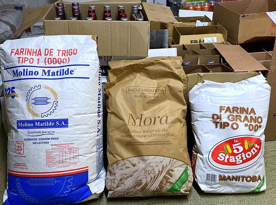 Todas as pizzas da Acqua & Farina são feitas com farinhas importadas.