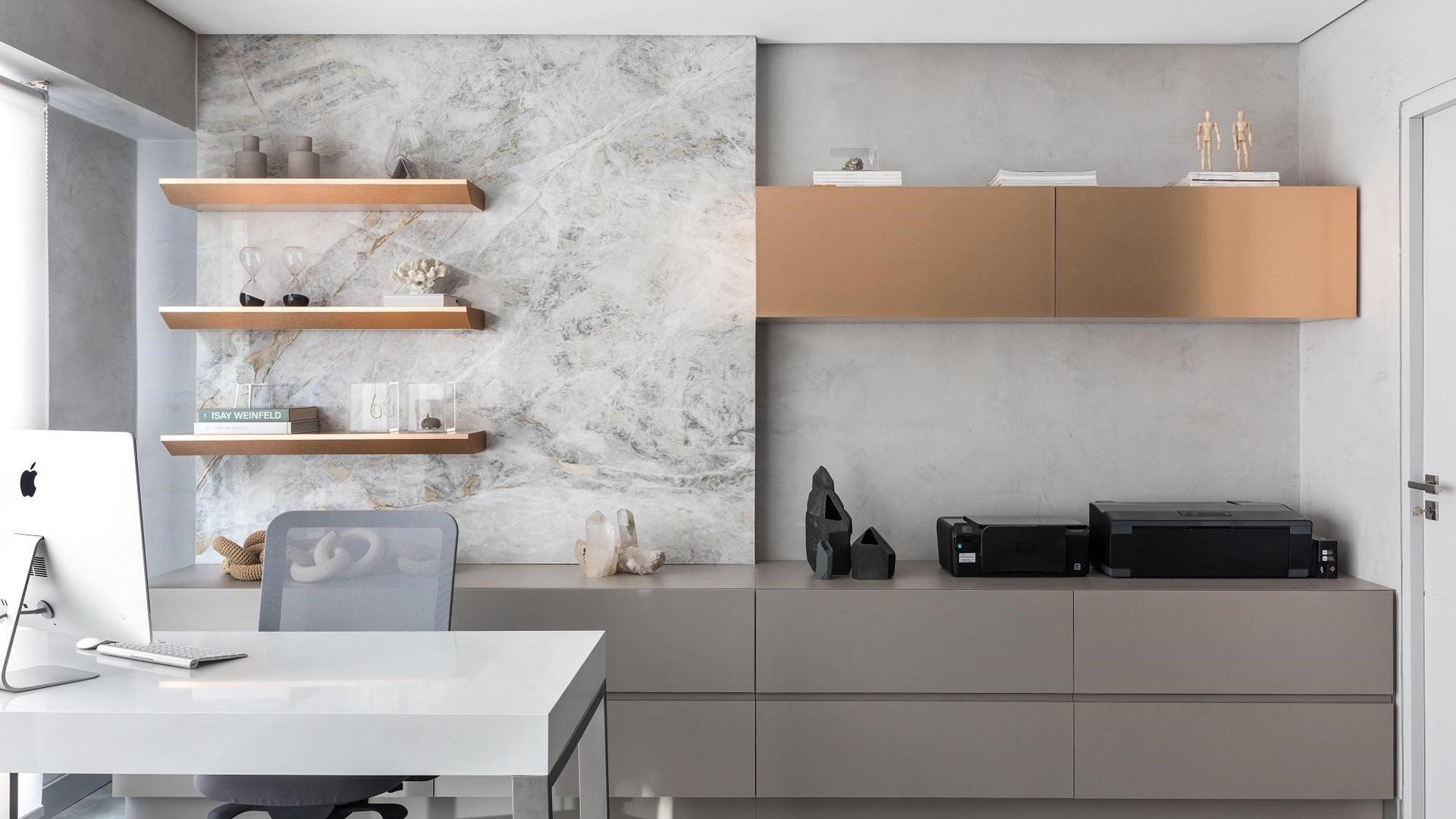 Ambiente montado pela FS Arquitetura, com o material Monte Vitta, beneficiado pelo PR Grupo Paraná.