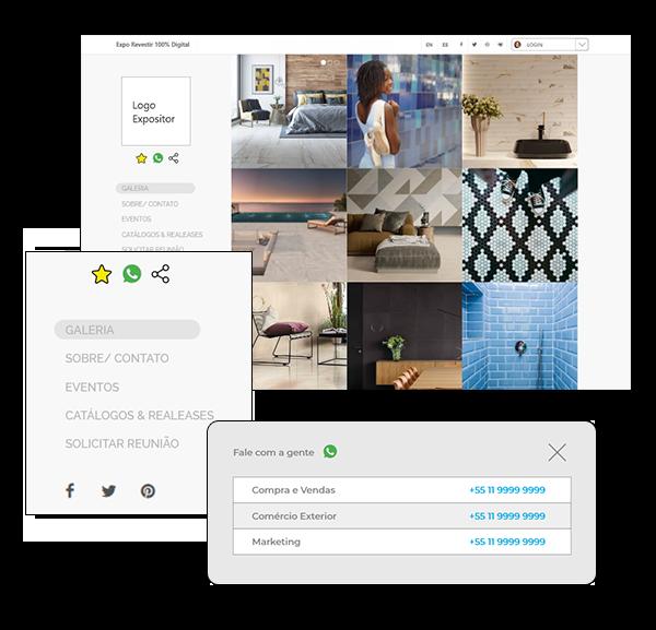 Catálogo interativo de cada expositor marca inovação da edição 2021 da Expo Revestir.