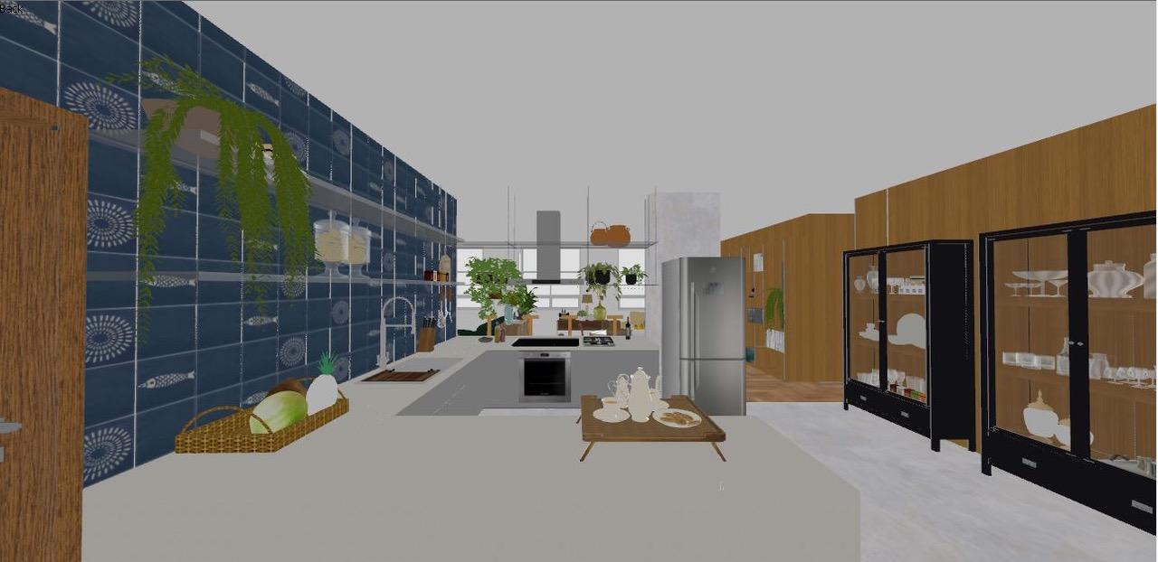 Uma das projeções do Estúdio A/R para o apartamento no Edifício Paraná.