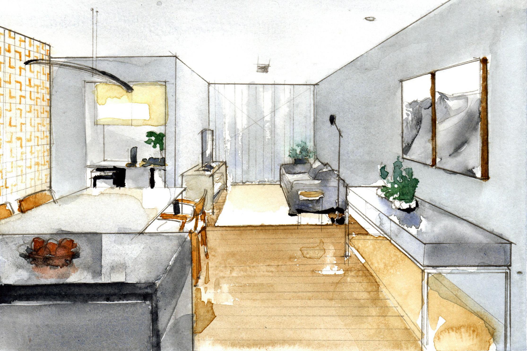 Projeto do Estúdio Brasis para apartamento dos anos 1980.