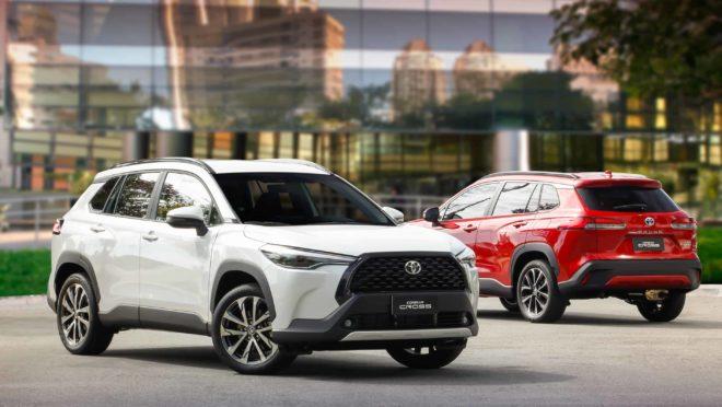 Toyota Corolla Cross é um SUV médio-compacto com motores flex e híbrido flex