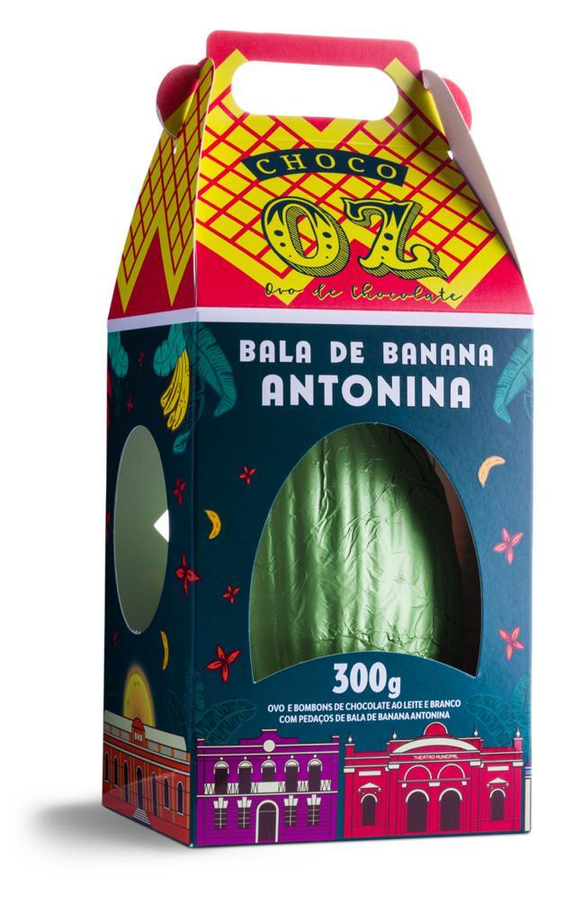 A embalagem do ovo remete à bala Antonina, de papelzinho verde. Foto: Guto Souza
