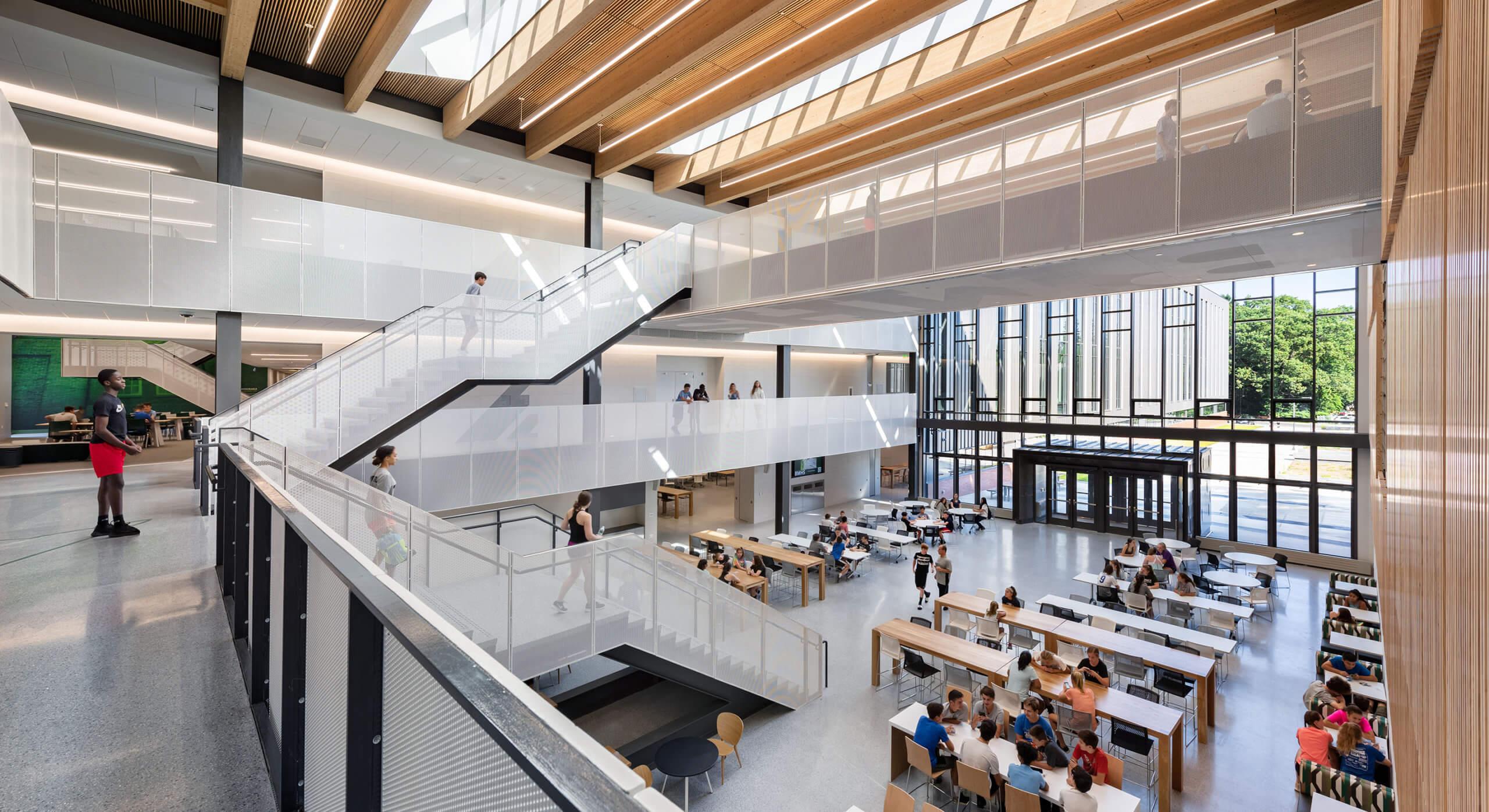 Escola Billerica Memorial High School, em Massachusetts, nos Estados Unidos.