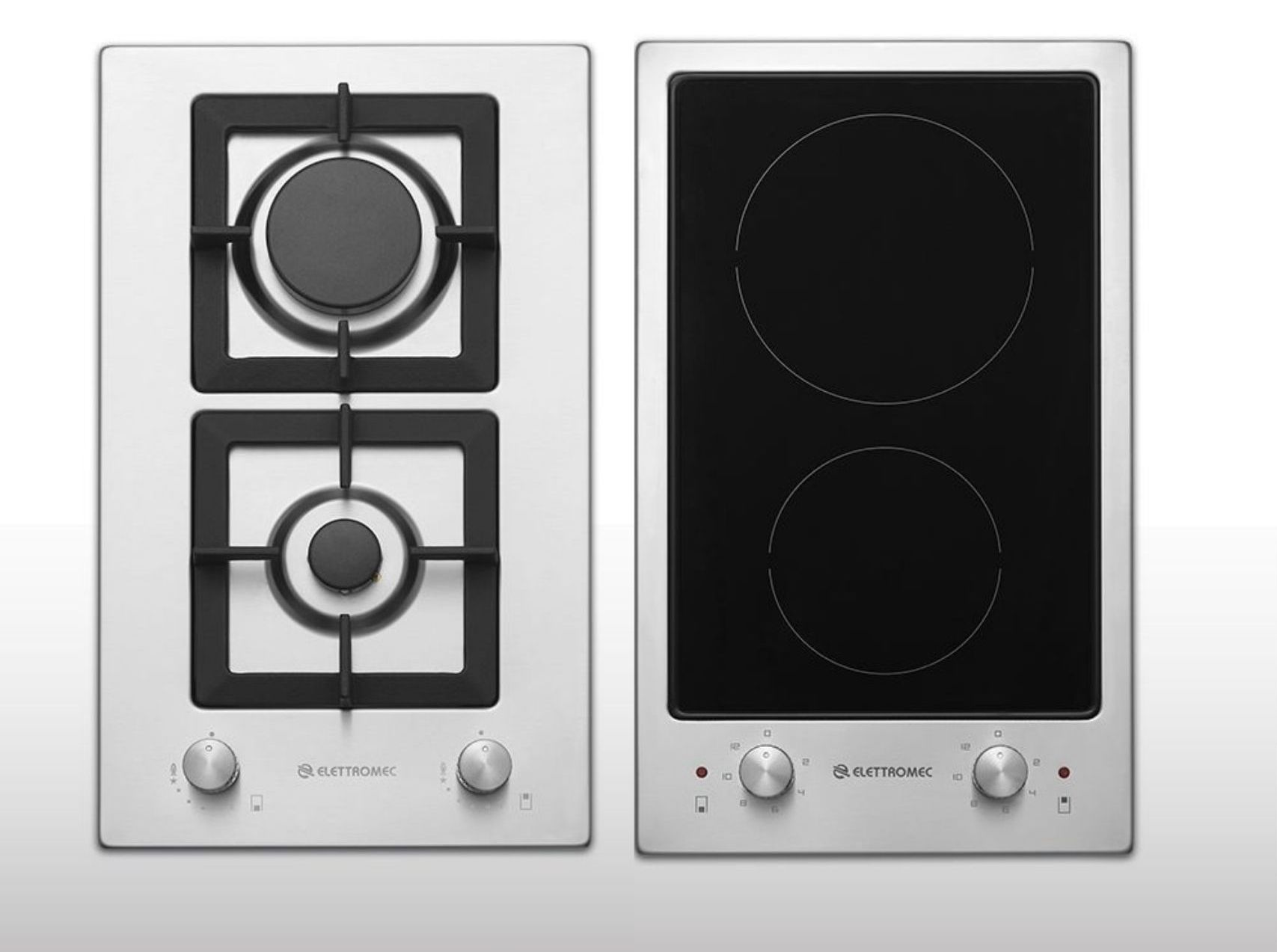 Cooktops modulares da linha Dominós.