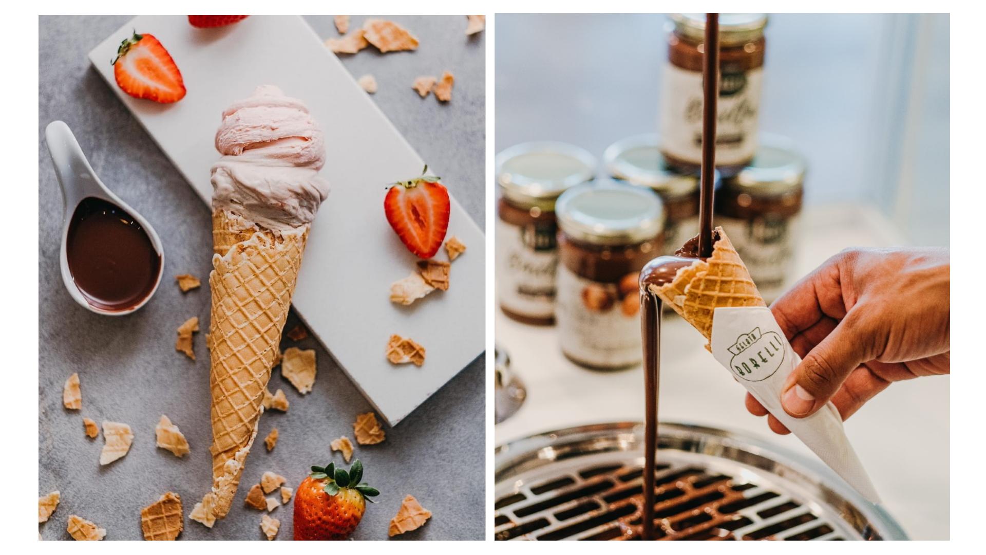 Receitas exclusivas e ingredientes de qualidade, aliados ao preparo artesanal e com produtos sempre frescos, são os segredos da Gelatos Borelli.