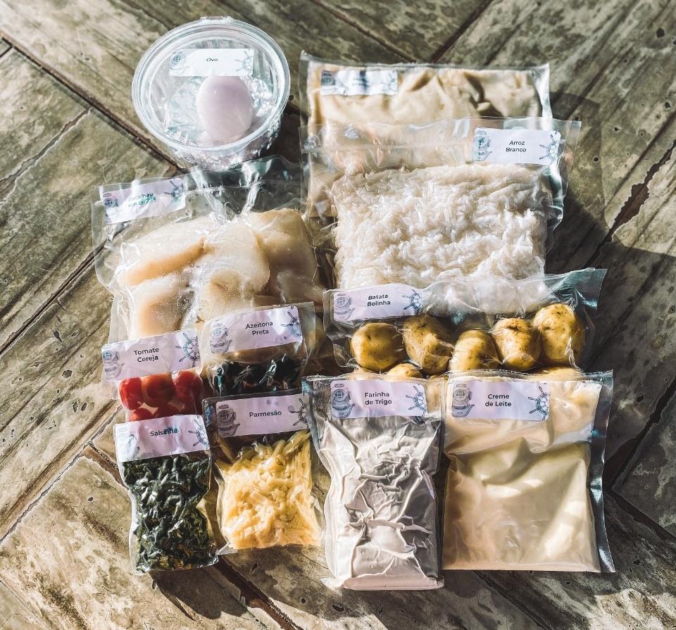 Ingredientes são embalados à vácuo e tornam a produção gourmet em cozinhas caseiras mais fácil e rápida. Foto: Divulgação.