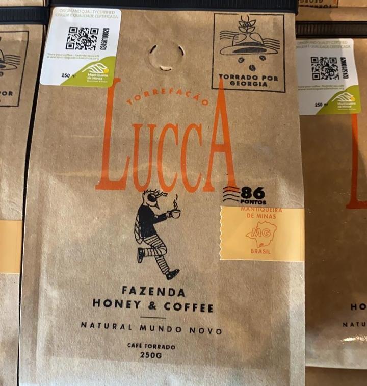 Novo rótulo do Lucca Café da Mantiqueira de Minas. Foto: Divulgação.
