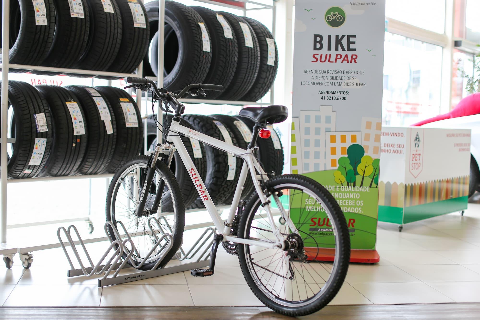 Bicicleta da Sulpar que pode ser usada por clientes