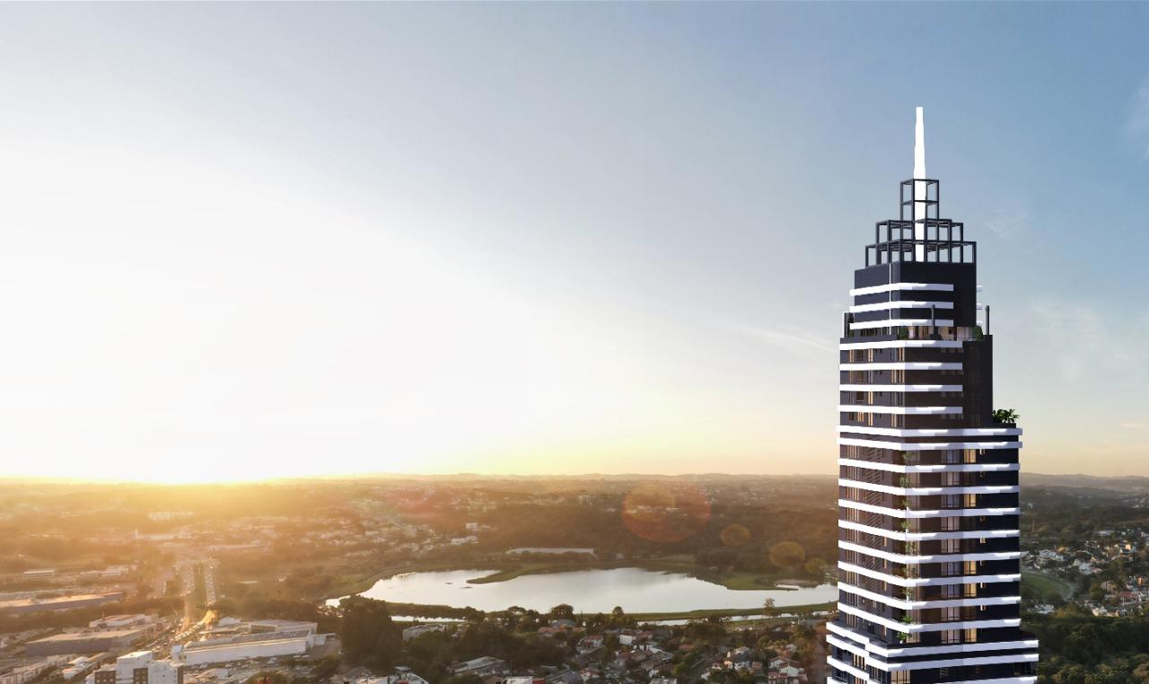 Fachada do edifício Casa Milano, novo empreendimento da GT Building, com vista para o Parque Barigui.