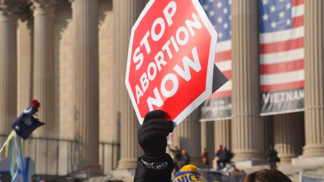 Protesto contra aborto nos Estados Unidos.
