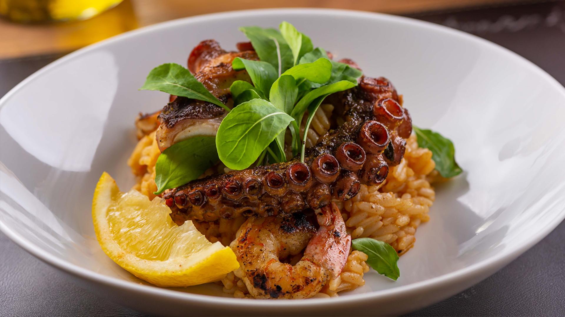 O Arroz do Mar, um dos destaques do menu do Pimenta Brasserie.