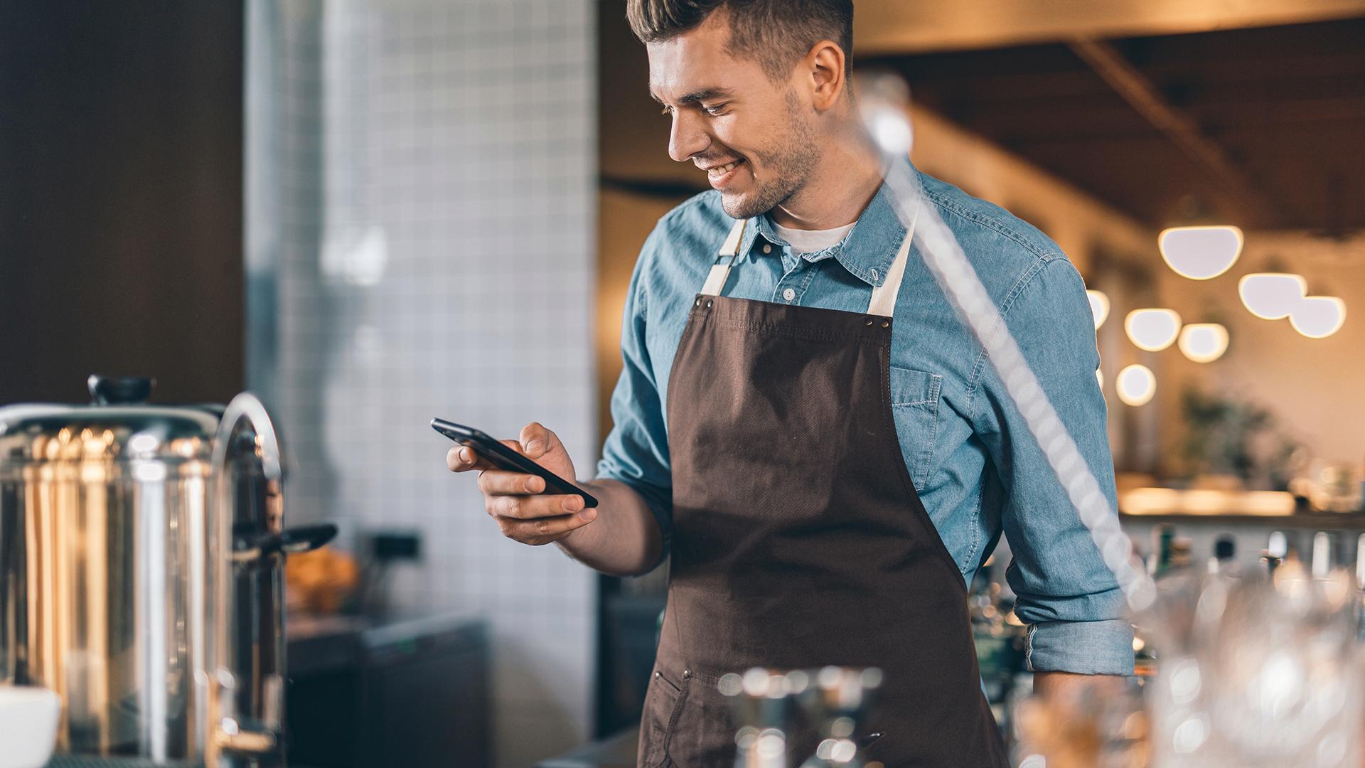 Independente do seu negócio, o pedido online vai direto para o seu smartphone.