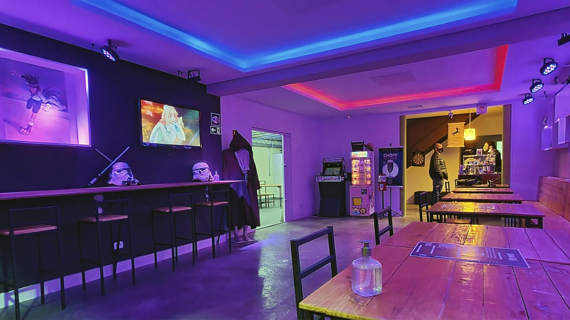 O espaço tem 236 m² e está sendo decorado para que os elementos representem a atmosfera do evento Shinobis Spirit.