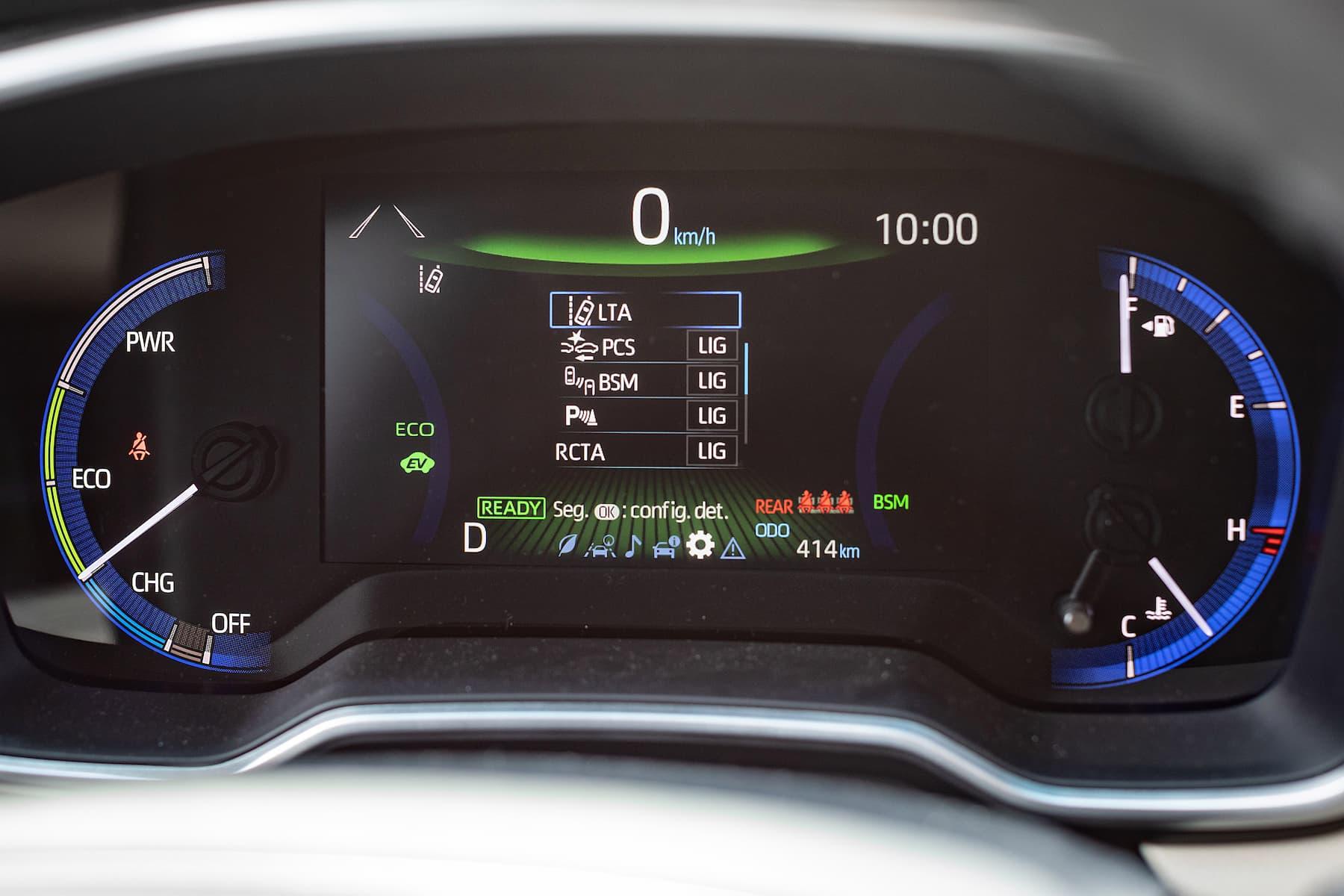 Quadro de instrumentos digital do Toyota Corolla Cross