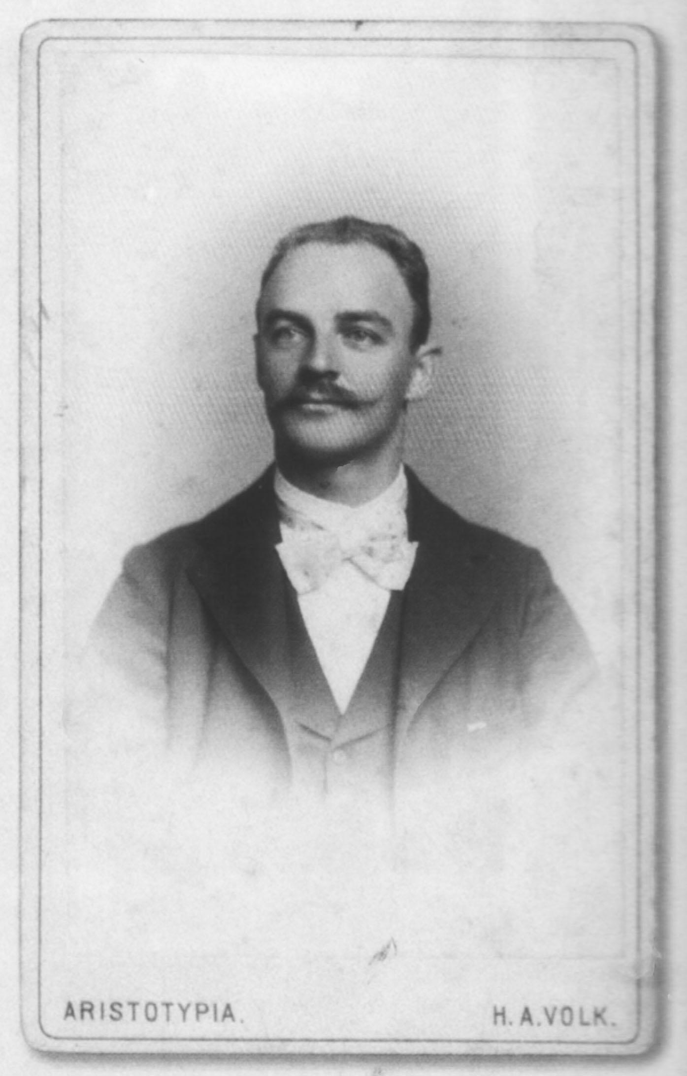Retrato de Luiz Leitner, por Adolpho Volk.